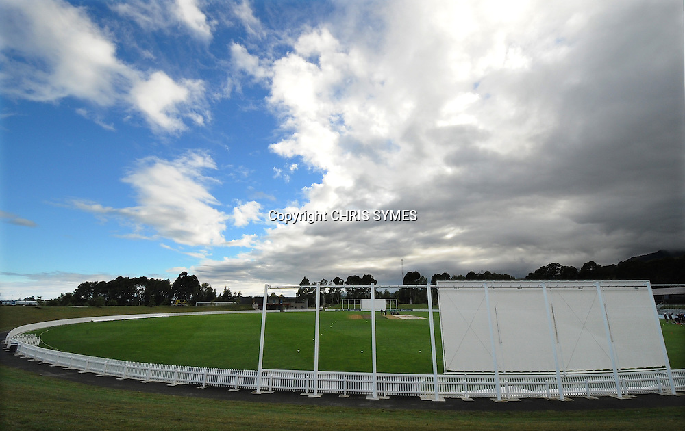 General view of Saxton Oval before start of Day four of the Plunket Shield cricket - Canterbury Wizards v Central Stags at Saxton Oval, Nelson, New Zealand. Monday 12 March 2012. Photo: Chris Symes/www.photosport.co.nz