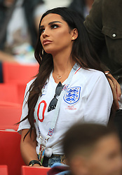 Ruby Mae, girlfirend of England's Dele Alli in the stands ahead of the FIFA World Cup 2018, round of 16 match at the Spartak Stadium, Moscow. PRESS ASSOCIATION Photo. Picture date: Tuesday July 3, 2018. See PA story WORLDCUP England. Photo credit should read: Adam Davy/PA Wire. RESTRICTIONS: Editorial use only. No commercial use. No use with any unofficial 3rd party logos. No manipulation of images. No video emulation