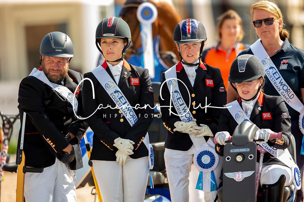 Sarah Armstrong, Sophie Wells, Lee Pearson, Natasha Baker, Erin Frances Orford, <br /> World Equestrian Games - Tryon 2018<br /> © Hippo Foto - Sharon Vandeput<br /> 21/09/2018
