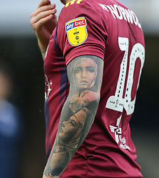 The tattoos on - Mandatory by-line: Arron Gent/JMP - 27/10/2019 - FOOTBALL - Roots Hall - Southend-on-Sea, England - Southend United v Ipswich Town - Sky Bet League One
