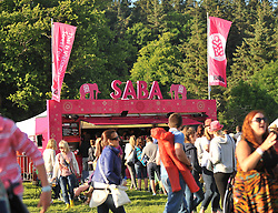 SABA's colourful food stall at the Westport Festival.<br /> Pic Conor McKeown