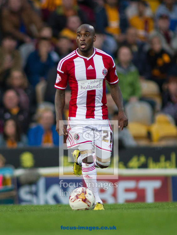 Jamal Campell-Ryce of Sheffield United during the Sky Bet League 1 match at the Coral Windows Stadium, Bradford<br /> Picture by Stephen Gaunt/Focus Images Ltd +447904 833202<br /> 18/10/2014