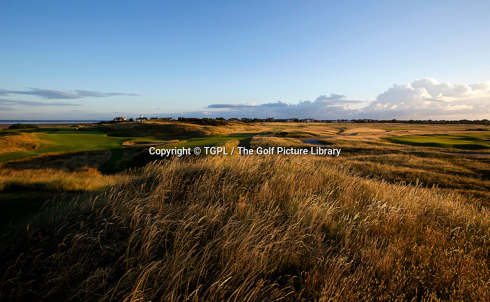 Left is 13th par 3 and right 6th par 3 Royal Liverpool Golf Club, Hoylake,Wirral,England, during summer 2013,venue for the 2014 Open Championship.