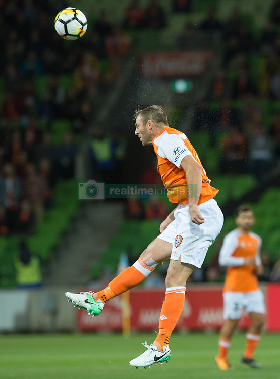 October 6, 2017 - Melbourne, Victoria, Australia - Melbourne, Victoria, Australia - Avram Papadopoulos (#6) of Brisbane Roar in action during the round 1 match between Melbourne City and Brisbane Roar at AAMI Park in Melbourne, Australia during the 2017/2018 Australian A-League season. (Credit Image: © Theo Karanikos via ZUMA Wire)