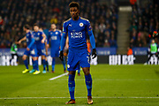 Leicester City midfielder Demarai Gray (7)  during the EFL Quarter Final Cup match between Leicester City and Manchester City at the King Power Stadium, Leicester, England on 19 December 2017. Photo by Simon Davies.
