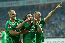 10.09.2011, Weser Stadion, Bremen, GER, 1.FBL, Werder Bremen vs Hamburger SV, im Bild.Andreas Wolf (Bremen #23) mit Marko Arnautovic (Bremen #7) und Claudio Pizarro (Bremen #24) Jubel nach dem 2:0.// during the Match GER, 1.FBL, Werder Bremen vs Hamburger SV on 2011/09/10,  Weser Stadion, Bremen, Germany..EXPA Pictures © 2011, PhotoCredit: EXPA/ nph/  Kokenge       ****** out of GER / CRO  / BEL ******