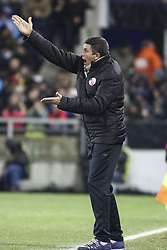 December 13, 2017 - Strasbourg, France - M. Laurey Thierry, coach Strasbourg team  reacts during the french League Cup match, Round of 16, between Strasbourg and Paris Saint Germain on December 13, 2017 in Strasbourg, France. (Credit Image: © Elyxandro Cegarra/NurPhoto via ZUMA Press)