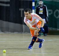 ALMERE - Zaalhockey - Oefenwedstrijd tussen de mannen van Nederland en Zweden. Floris Wortelboer. COPYRIGHT KOEN SUYK