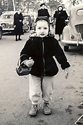 little girl in the street France ca 1950s