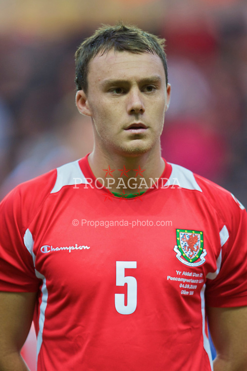 SWANSEA, ENGLAND - Friday, September 4, 2009: Wales' Darcy Blake during the UEFA Under 21 Championship Qualifying Group 3 match against Italy at the Liberty Stadium. (Photo by David Rawcliffe/Propaganda)