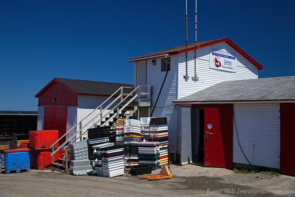 North America, Canada, Nova Scotia, Canso. Fisherman's Market Wharf in Canso.