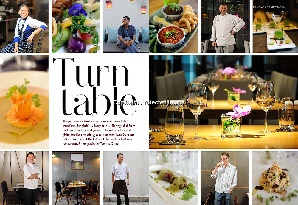 Fah Thai Magazine (Bangkok Airways) feature on Bangkok's best chefs and restauranteurs.