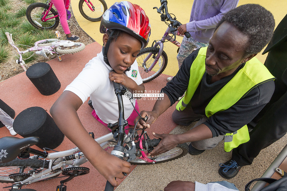 Bicycle maintenance workshop for children, London Borough of Haringey