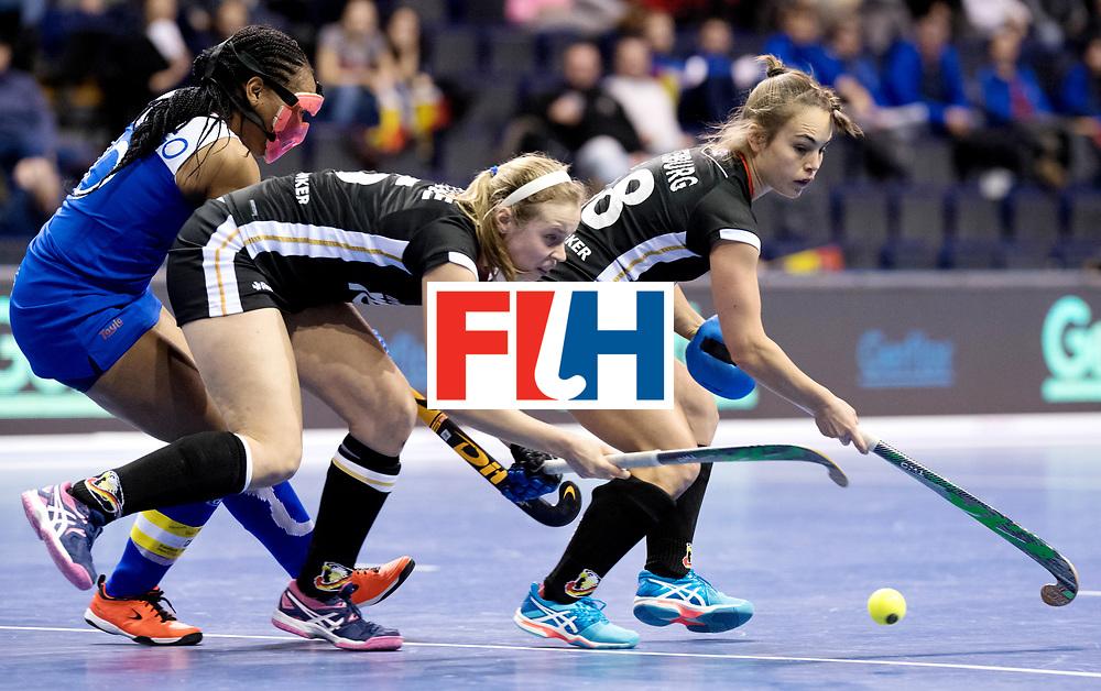 BERLIN - Indoor Hockey World Cup<br /> Women: Germany - Namibia<br /> foto: Viktoria Huse and Lisa Altenburg.<br /> WORLDSPORTPICS COPYRIGHT FRANK UIJLENBROEK