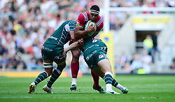 Ben Glynn of Harlequins is tackled by Scott Steele of London Irish - Mandatory by-line: Alex James/JMP - 02/09/2017 - RUGBY - Twickenham Stadium - London, England - London Irish v Harlequins - Aviva Premiership