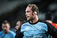 Alun Wyn Jones of Ospreys<br /> <br /> Photographer Craig Thomas/Replay Images<br /> <br /> Guinness PRO14 Round 4 - Ospreys v Benetton Treviso - Saturday 22nd September 2018 - Liberty Stadium - Swansea<br /> <br /> World Copyright &copy; Replay Images . All rights reserved. info@replayimages.co.uk - http://replayimages.co.uk