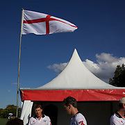 'A Day at the Polo'<br /> The England team after defeat during the International Polo Test match between Australia and England at the Windsor Polo Club, Richmond, Sydney, Australia on March 29, 2009. Australia won the match 8-7.  Photo Tim Clayton