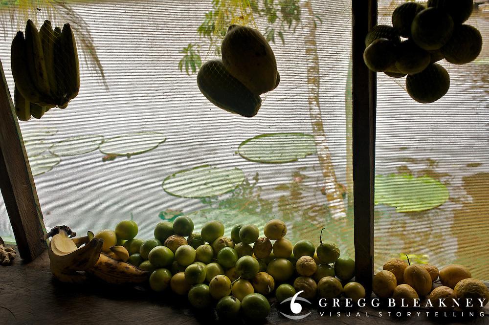 Kitchen scene at Lake Marasha near Peru Colombia Border - Amazonas - Peru