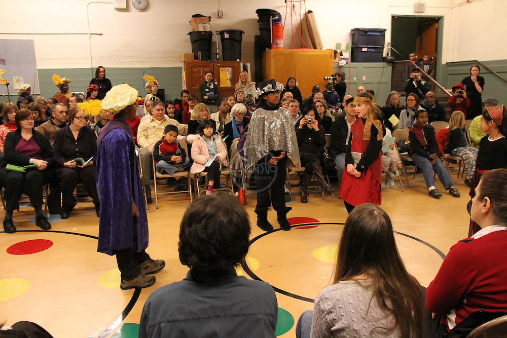 """Seattle Shakespeare Company Residency Showcase at Montlake Elementary School performing """"The Tempest"""" on February 8, 2011"""