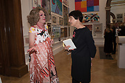 GRAYSON PERRY, ,CORNELIA PARKER,  2019 Royal Academy Annual dinner, Piccadilly, London.  3 June 2019