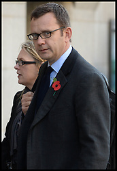 Andy Coulson arrives at the Old Bailey for the start of the Phone Hacking Trial. The Old Bailey, London, United Kingdom. Monday, 28th October 2013. Picture by Andrew Parsons / i-Images