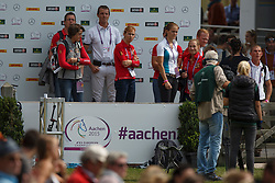 Laeremans Wendy, Wathelet Gregory, Vereecke Evi, Melchior Judy Ann, Rydant Hymne<br /> Team and 1th individual qualifier <br /> FEI European Championships - Aachen 2015<br /> © Hippo Foto - Dirk Caremans<br /> 19/08/15
