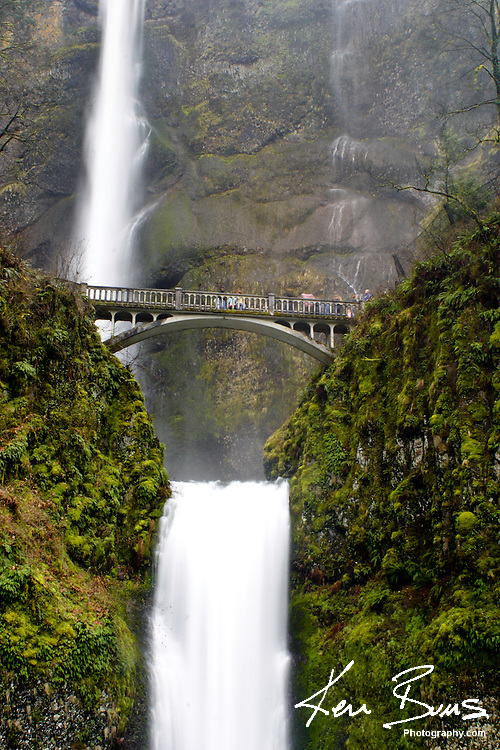 Multnomah Falls, the second highest year round waterfall in the USA.
