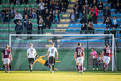 Second goal for Mura by Amadej Maroša of Mura during football match between NŠ Mura and Nk Triglav in 14th Round of Prva liga Telekom Slovenije 2019/20, on October 19, 2019 in Fazanerija, Murska Sobota, Slovenia. Photo by Blaž Weindorfer / Sportida