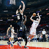 16 December 2015: Los Angeles Clippers guard J.J. Redick (4) goes for the jump shot during the Los Angeles Clippers 103-90 victory over the Milwaukee Bucks, at the Staples Center, Los Angeles, California, USA.