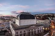 Switzerland, Zurich: view from Amabassador hotel terrace, the back of the Opera House