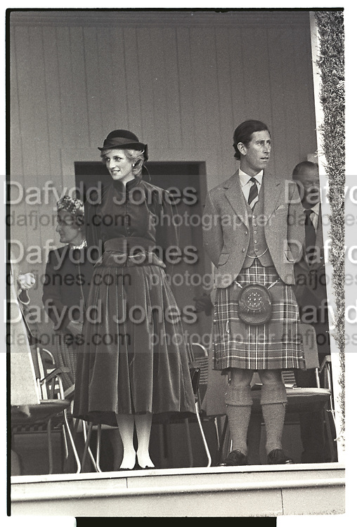 The Princess of Wales; Prince Charles, Braemar Gathering, Scotland. 3 September 1983,