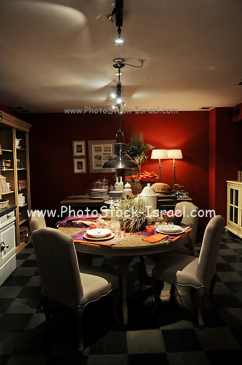 France, Paris, Dining room interior