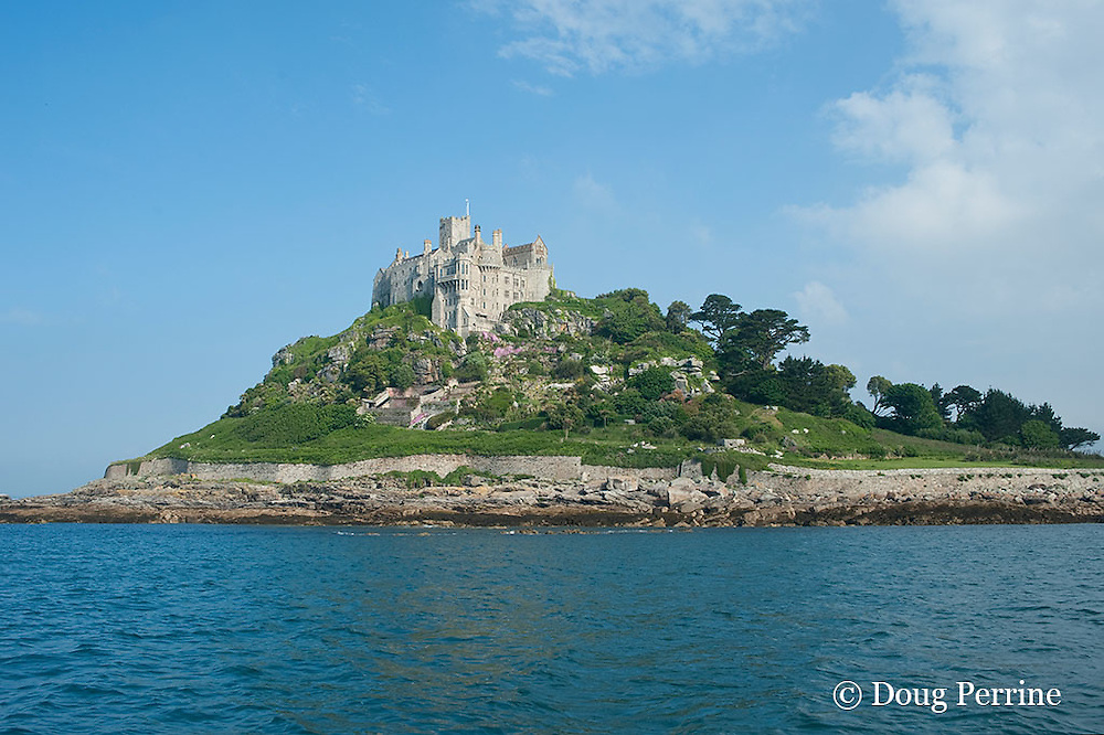 Mount St. Michael, Marazion, Cornwall, United Kingdom ( North Atlantic Ocean )