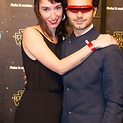 NLD/Amsterdam/20151215 - première van STAR WARS: The Force Awakens!, Mingus Dagelet en partner ......