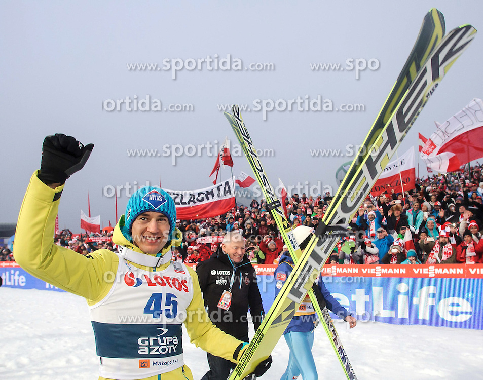 18.01.2015, Wielka Krokiew, Zakopane, POL, FIS Weltcup Ski Sprung, Zakopane, im Bild KAMIL STOCH // during men's Large Hill competition of FIS Ski Jumping world cup at the Wielka Krokiew in Zakopane Wielka Krokiew in Zakopane, Poland on 2015/01/18. EXPA Pictures &copy; 2015, PhotoCredit: EXPA/ Newspix/ RAFAL OLEKSIEWICZ<br /> <br /> *****ATTENTION - for AUT, SLO, CRO, SRB, BIH, MAZ, TUR, SUI, SWE only*****