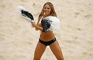 Football-FIFA Beach Soccer World Cup 2006 - Group D-Bahrain - Argentina, Beachsoccer World Cup 2006. A dancing girl - Rio de Janeiro - Brazil 04/11/2006<br /> Mandatory credit: FIFA/ Manuel Queimadelos