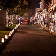 Sutter Street in Old Town Folsom, CA during Christmas Time Pre-Redevelopment.