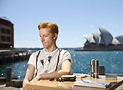 Steven McRae, Principal Performer of the Royal Ballet of London at the Harbour Bar of the Park Hyatt in Sydney