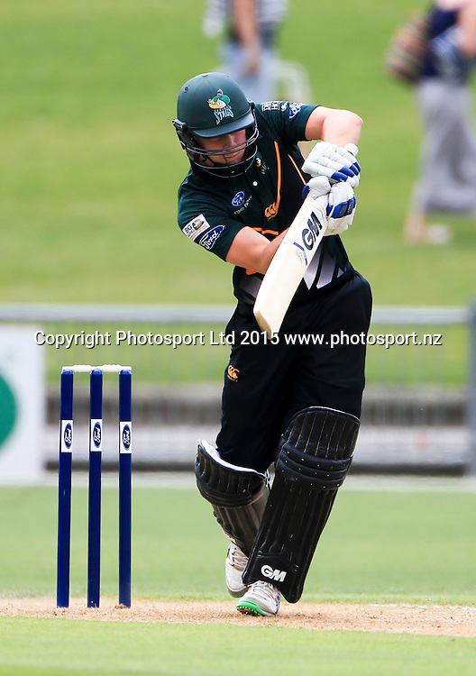 CD's Will Young plays a shot. Ford Trophy cricket, Central Stags v Canterbury, McLean Park, Napier, New Zealand. Sunday 27 December, 2015. Copyright photo: John Cowpland / www.photosport.nz