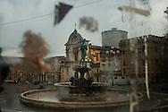 L'Aquila, Italia - 31 marzo 2013. Una veduta del centro storico dell'Aquila. Sono centinaia e centinaia i palazzi puntellati. .Ph. Roberto Salomone Ag.Controluce