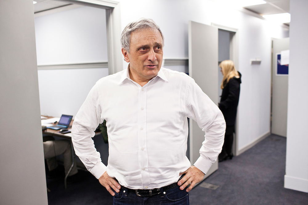 Former New York Republican gubernatorial candidate Carl Paladino at the New Hampshire campaign headquarters for Republican presidential candidate Newt Gingrich on Sunday, January 8, 2012 in Manchester, NH. Brendan Hoffman for the New York Times