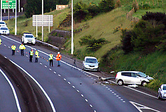 Auckland-Fatal car accident involving truck and barrier, SH1 Pokeno