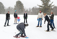 Snowshoe Disc Golf Tourney at Tavern 27 and Mystic Meadows Saturday, February 23, 2013.  Karen Bobotas/for the Laconia Daily Sun