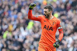 Hugo Lloris of Tottenham Hotspur celebrates the opening goal - Mandatory by-line: Arron Gent/JMP - 13/04/2019 - FOOTBALL - White Hart Lane - London, England - Tottenham Hotspur v Huddersfield Town - Premier League