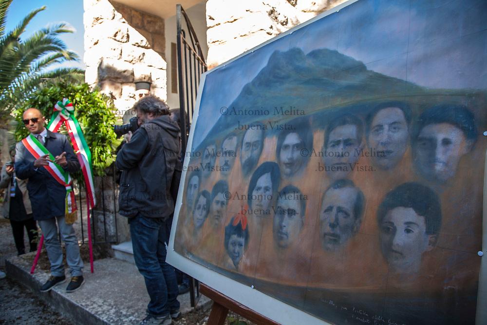 Cerimonia al cimitero di Piana degli Albanesi alla presenza dei segretari nazionali Camusso, Furlan e Barbagallo