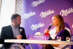 Chocolate MIlka during Milka press conference, on October 3, 2017 in Lolita Cake Shop, Ljubljana, Slovenia. Photo by Vid Ponikvar / Sportida