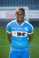 Gent's Serge Tabekou pictured during the 2015-2016 season photo shoot of Belgian first league soccer team KAA Gent, Saturday 11 July 2015 in Gent.
