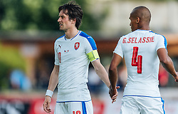 27.05.2016, Grenzlandstadion, Kufstein, AUT, Testspiel, Tschechien vs Malta, im Bild Tomas Rosicky (CZE), Theodor Gebre Selassie (CZE) // Tomas Rosicky of Czech Republic, Theodor Gebre Selassie of Czech Republic during the International Friendly Match between Czech Republic and Malta at the Grenzlandstadion in Kufstein, Austria on 2016/05/27. EXPA Pictures © 2016, PhotoCredit: EXPA/ JFK