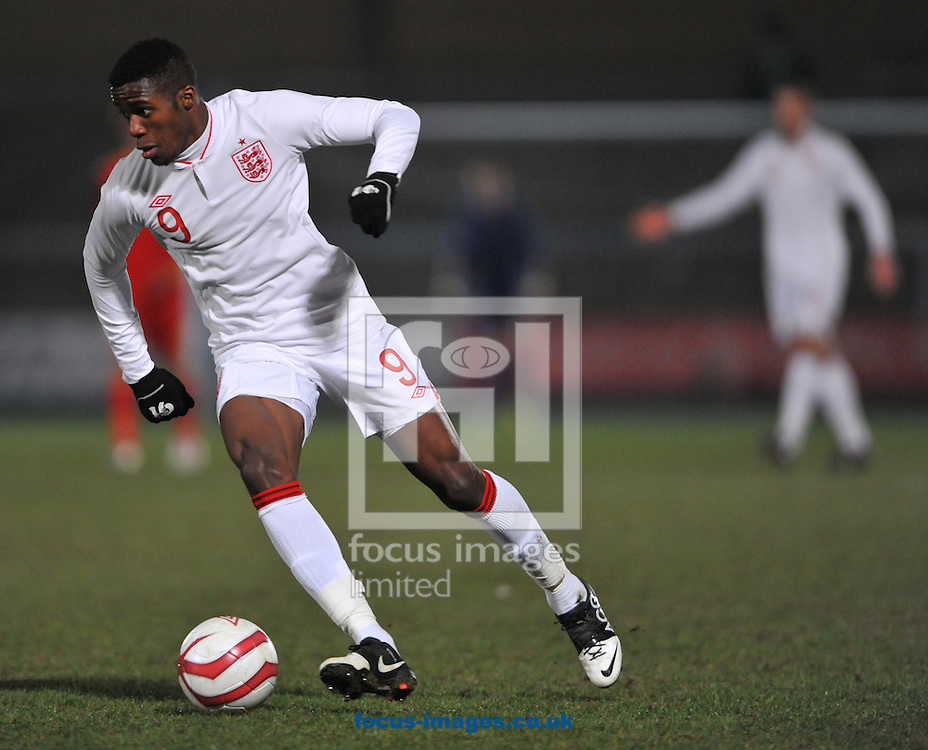 Picture by Daniel Hambury/Focus Images Ltd +44 7813 022858.21/03/2013.Wilfred Zaha of England Under-21 during the International Friendly match at Adams Park, High Wycombe.