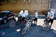 Roma 19 Agosto 2013.<br /> La bicicletta del Sindaco di Roma Ignazio Marino con la polizia municipale che lo scorta<br /> The bicycle the Mayor of Rome Ignazio Marino, with the security of the  municipal police